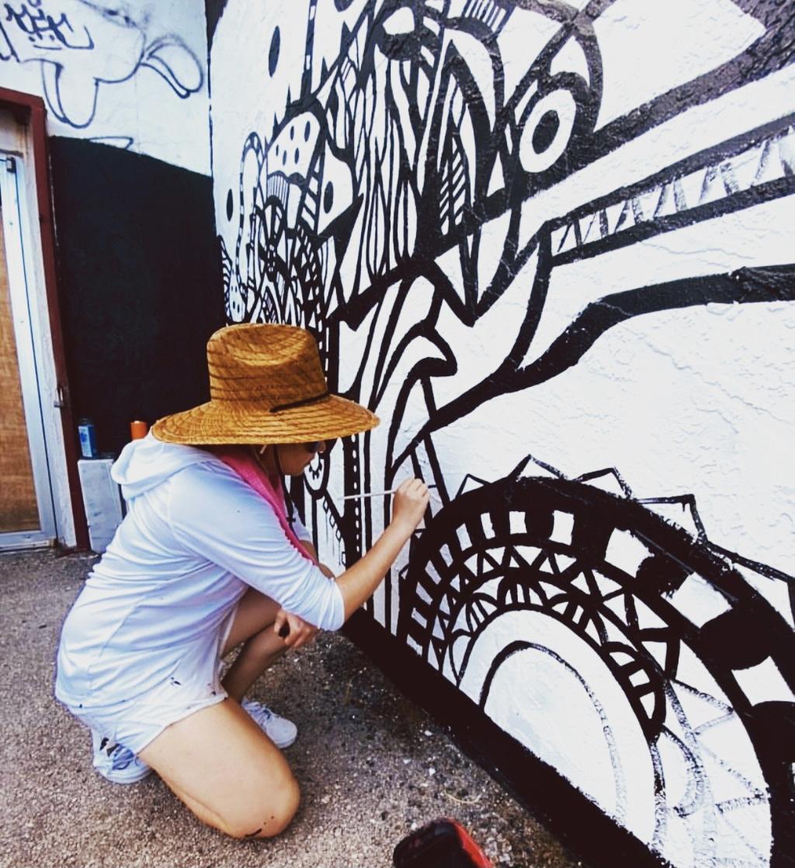 El mural ubicado en Miami de una artista 100% chapina imagen