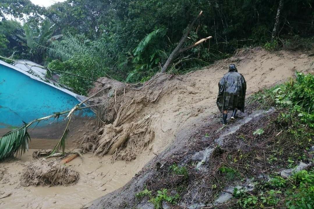 Ante la llegada de la temporada de lluvias, población de Quejá vuelve a tener peligro de deslizamientos imagen