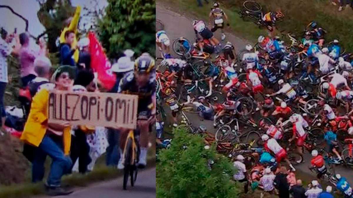 Aficionada que causó choque de ciclistas en el Tour de Francia podría pasar hasta un año en prisión imagen