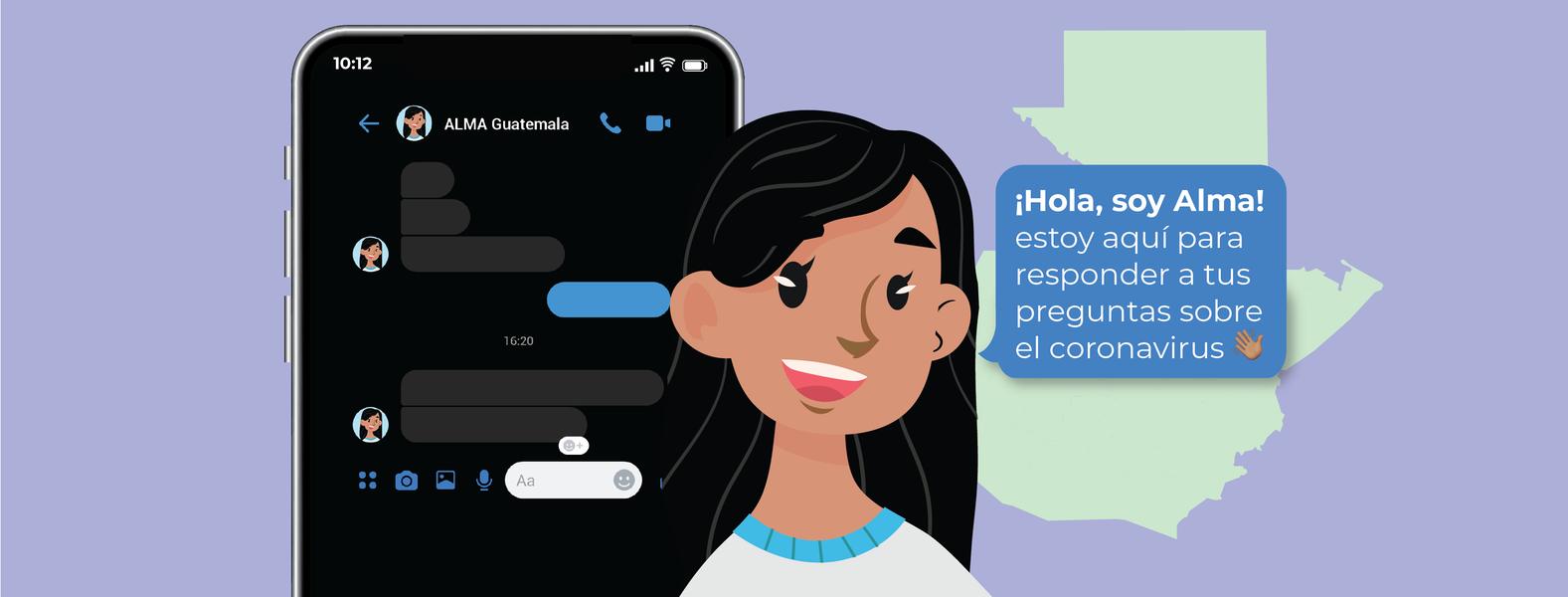ALMA, el chatbot creado por guatemaltecos que da información sobre la disponibilidad de vacunas en el país imagen