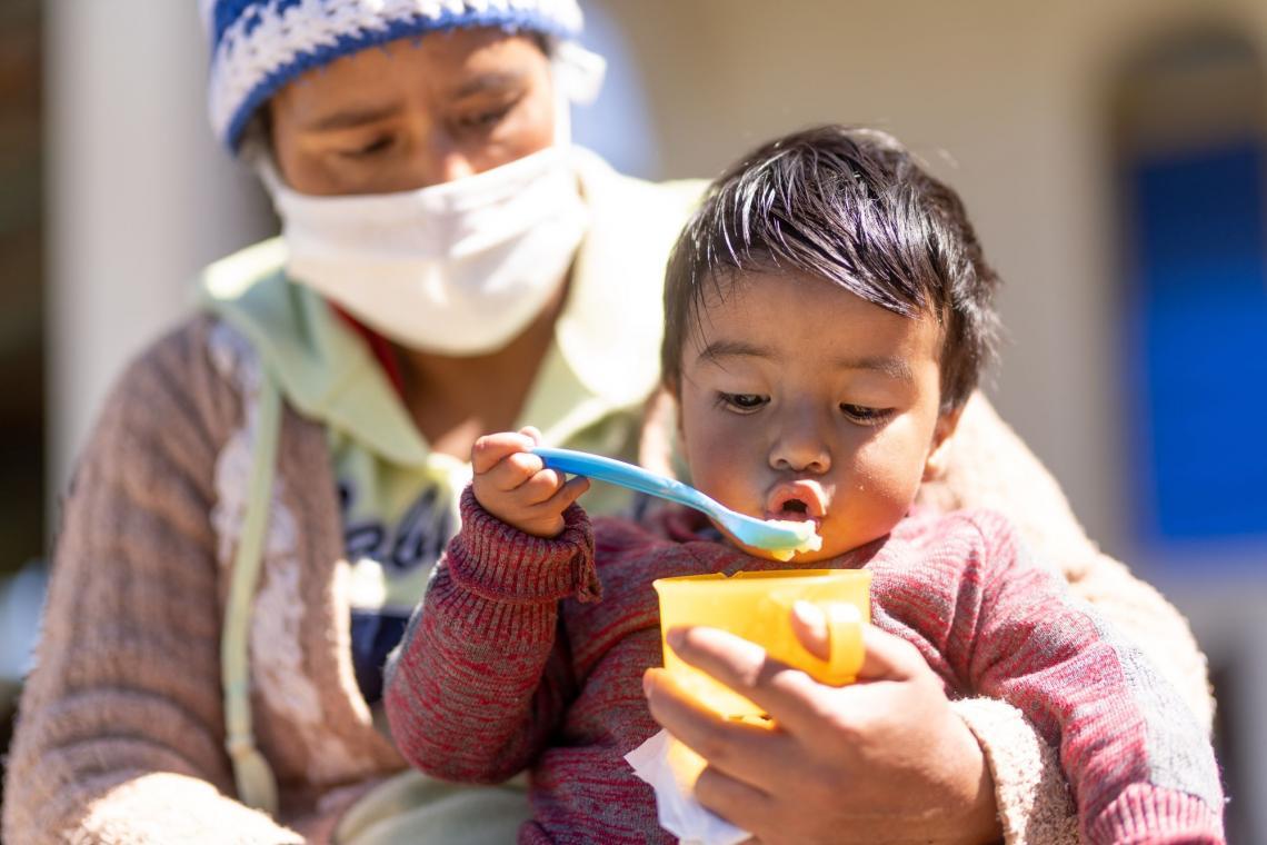El Día Mundial de la Alimentación en un país que sufre de desnutrición imagen